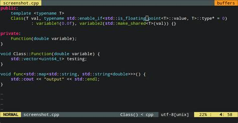 c++ - class & function names highlighting in Vim - Stack