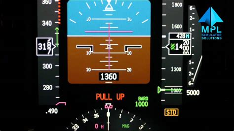 Ground Proximity Warning System (GPWS) demo on MPS Boeing