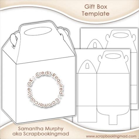 Gift Box Template Commercial Use OK - £3