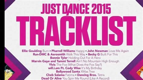 Just Dance 2015 / Full Song List/ Picture - YouTube