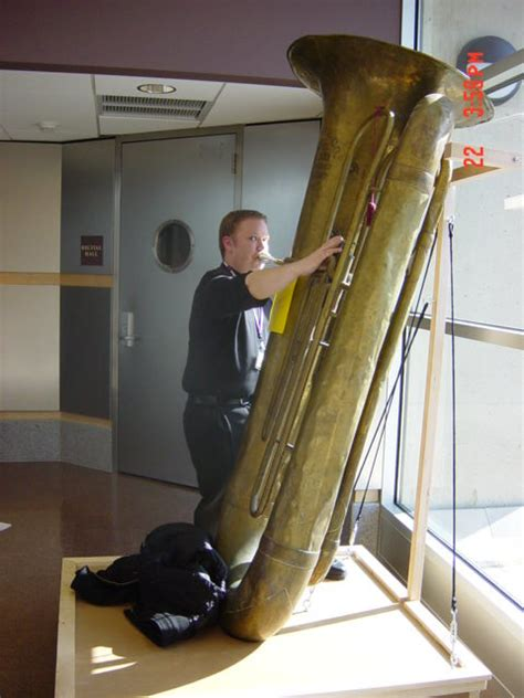 Me Playing a Sub-Contrabass Tuba | At NeRTEC 2003, Amherst