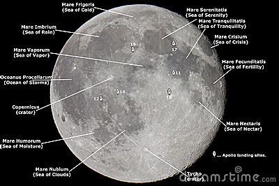 Map Of The Moon Royalty Free Stock Images - Image: 11308449