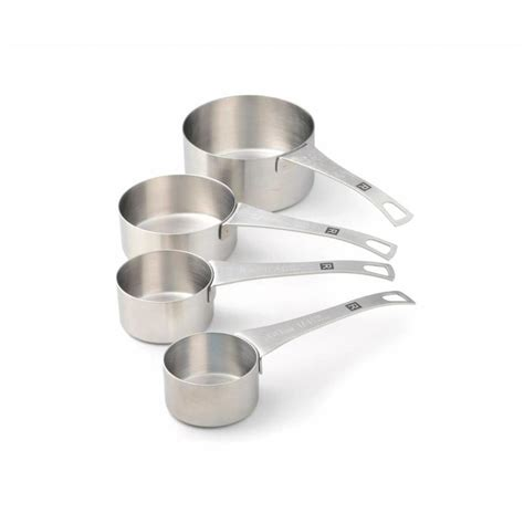 Set of 4 Stainless Steel Measuring Cups - Boutique RICARDO