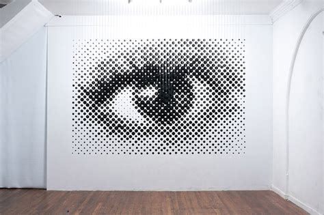 perceptual shift by michael murphy forms 2D image in three