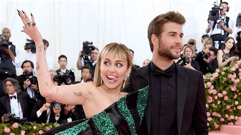 Miley Cyrus and Liam Hemsworth Stun at First Met Gala
